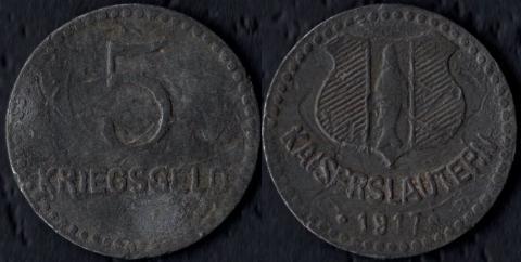 Кайзерслаутерн 5 пфеннигов 1917