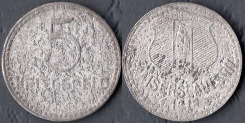 Кайзерслаутерн 5 пфеннигов 1918