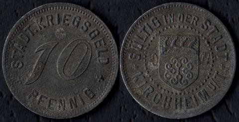 Кирххайм 10 пфеннигов 1917