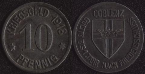 Кобленц 10 пфеннигов 1918 (1)