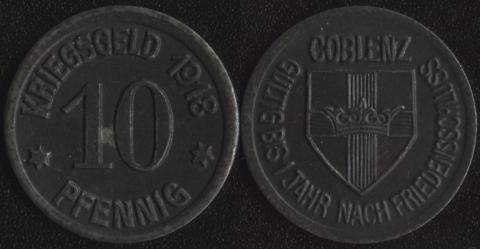 Кобленц 10 пфеннигов 1918 (2)