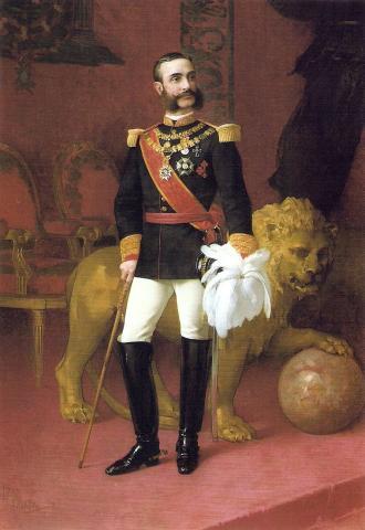 Король Испании Альфонсо XII
