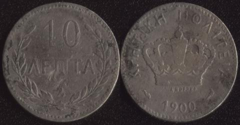 Крит 10 лепта 1900