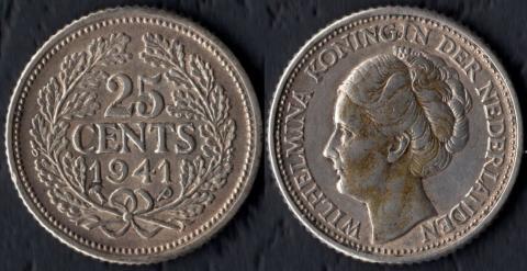 Кюрасао 25 центов 1941