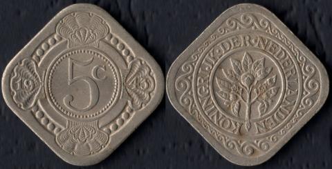 Кюрасао 5 центов 1943