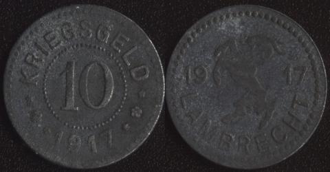 Ламбрехт 10 пфенигов 1917