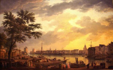 Порт города Ла-Рошель