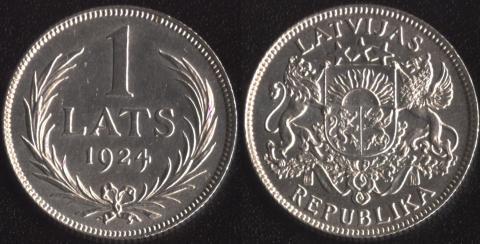 Латвия 1 лат 1924