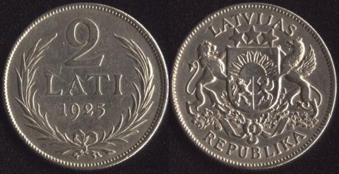 Латвия 2 лата 1925