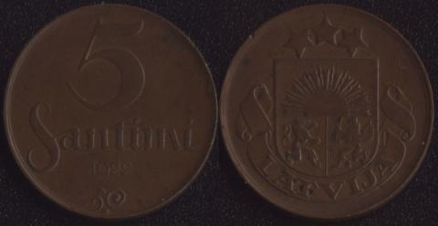 Латвия 5 сантим 1922