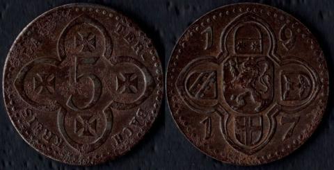 Лаутербах 5 пфеннигов 1917