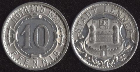Леннеп 10 пфеннигов 1920