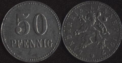 Леннеп 50 пфеннигов 1917
