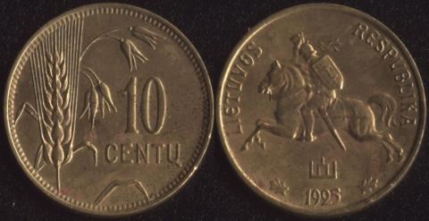 Литва 10 сенту 1925