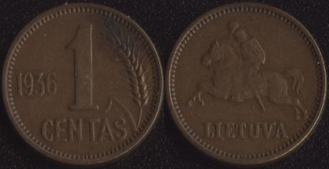 Литва 1 сентас 1936
