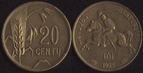 Литва 20 сенту 1925