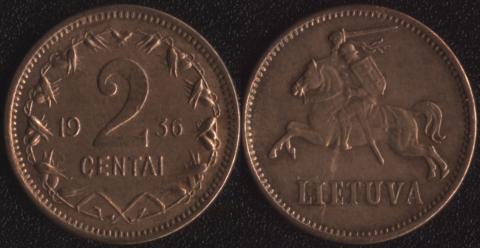 Литва 2 сентаи 1936