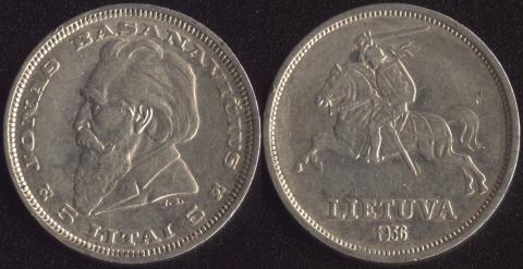 Литва 5 лит 1936