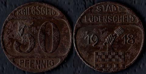 Люденшайд 50 пфеннигов 1918