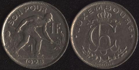 Люксембург 1 франк 1928
