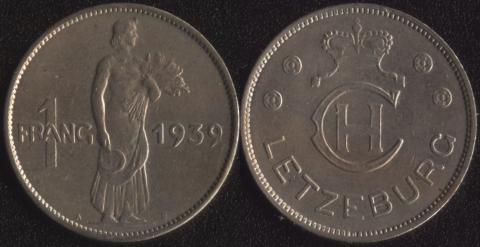 Люксембург 1 франк 1939