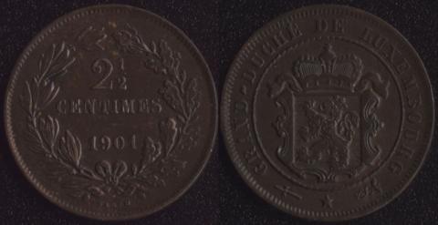 Люксембург 2.5 сантим 1901