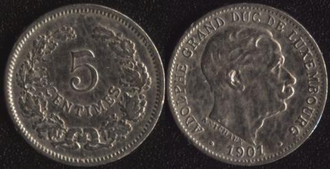 Люксембург 5 сантим 1901
