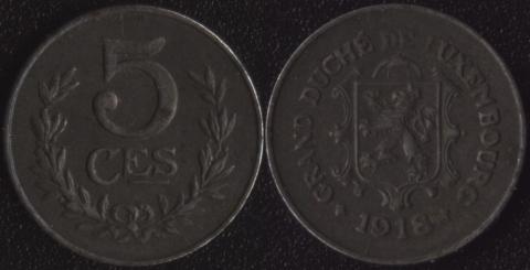 Люксембург 5 сантим 1918