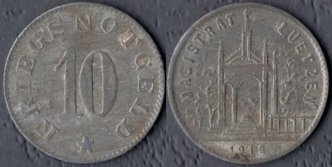 Лютцен 10 пфеннигов 1919