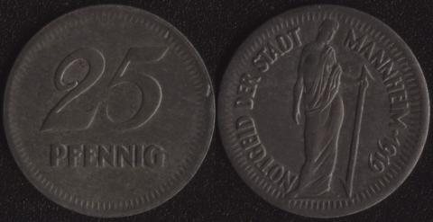 Маннхейм 25 пфеннигов 1919