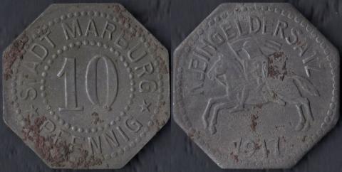 Марбург 10 пфеннигов 1917
