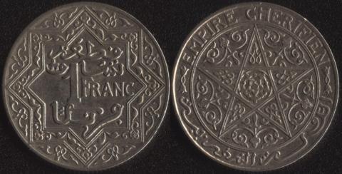 Французское Марокко 1 франк 1921