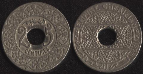 Французское Марокко 25 сантим 1921