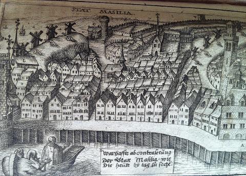 Марсель. Гравюра 1602 года