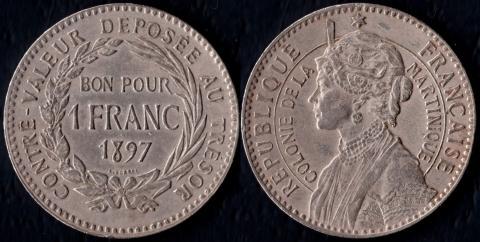 Мартиника 1 франк 1897