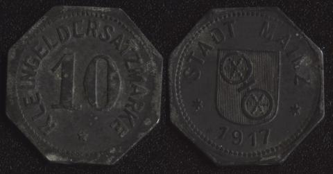 Майнц 10 пфеннигов 1917