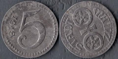 Майнц 5 пфеннигов 1918