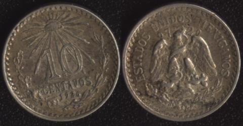 Мексика 10 сентаво 1926