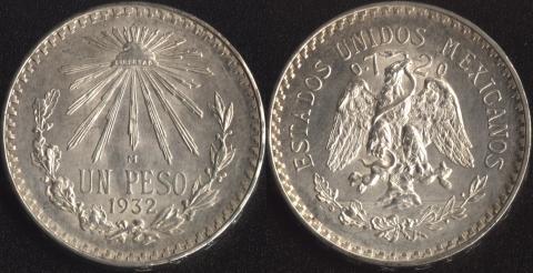 Мексика 1 песо 1932