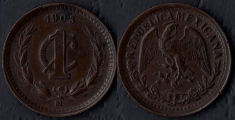 Мексика 1 сентаво 1903