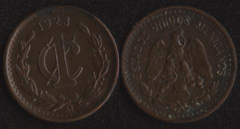 Мексика 1 сентаво 1923