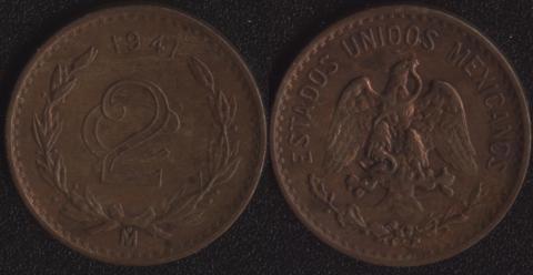Мексика 2 сентаво 1941