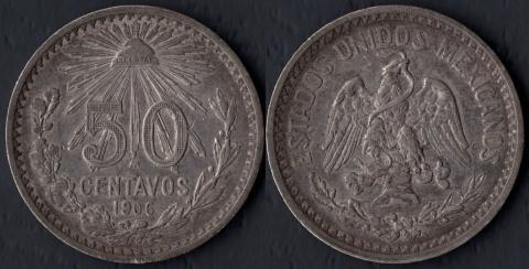 Мексика 50 сентаво 1906