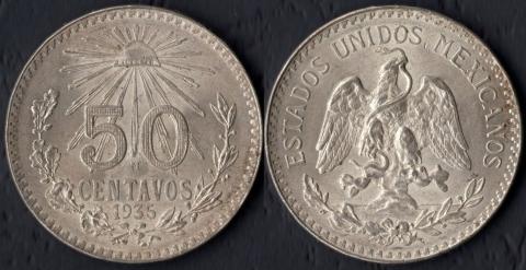 Мексика 50 сентаво 1935
