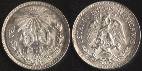 Мексика 50 сентаво 1945