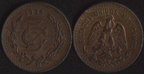Мексика 5 сентаво 1935