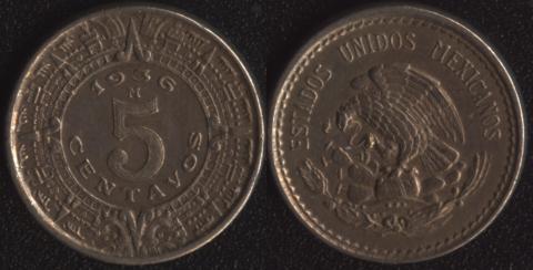 Мексика 5 сентаво 1936