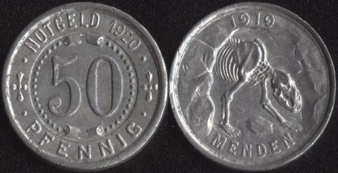 Менден 50 пфеннигов 1920