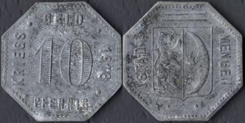 Менген 10 пфеннигов 1918 (цинк)