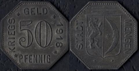 Менген 50 пфеннигов 1918 (цинк)